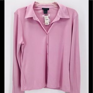 THE LIMITED NWT 100% SILK LILAC BUTTON DOWN BLOUSE
